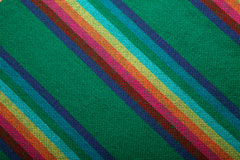 colorful, handwoven blanket